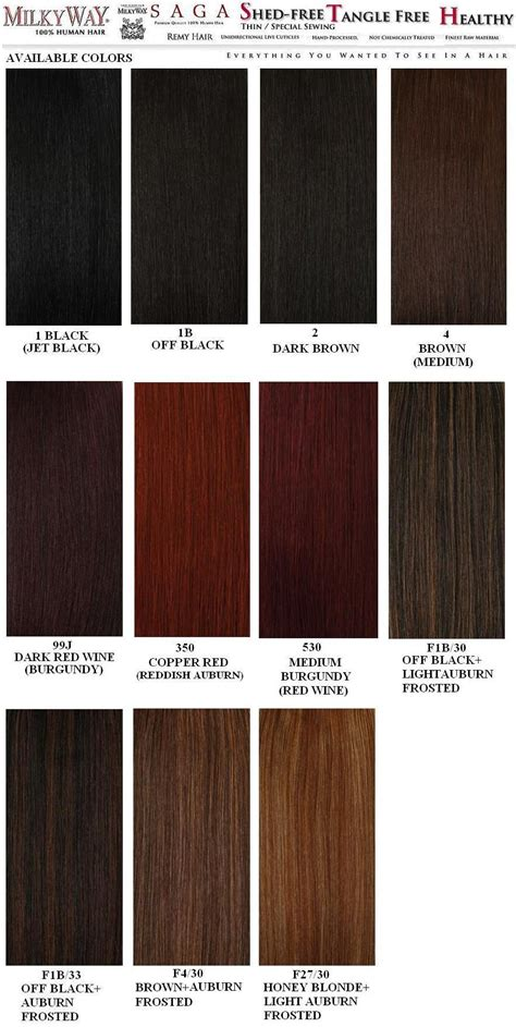 chart of haircolors hairstyle weave hair color chart sovinsl weave hair weave hair color and hair color