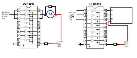 transistor darlington uln2803 digitalduino arduino uln2803