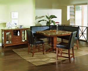 sectional dining room table 6 pc plato granite counter height dining table set with