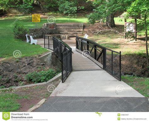 Gardens Bridge Nj by Trees And Small Pedestrian Bridge At Roosevelt