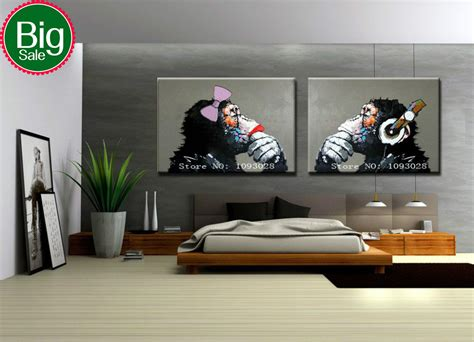 aliexpress home decor hand painted gorilla wall art picture living room home