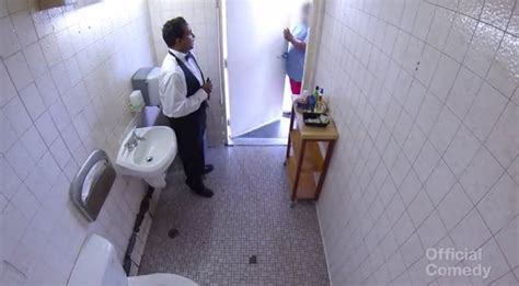 bathroom attendants restroom attendant prank makes gas station bathroom fancy