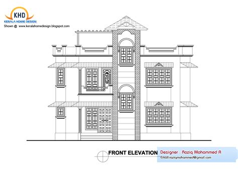 Floor Plan And Elevation Drawings by Home Plan And Elevation Kerala Home Design And Floor Plans