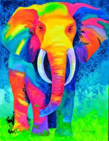 colorful animal paintings 25 best ideas about colorful elephant on