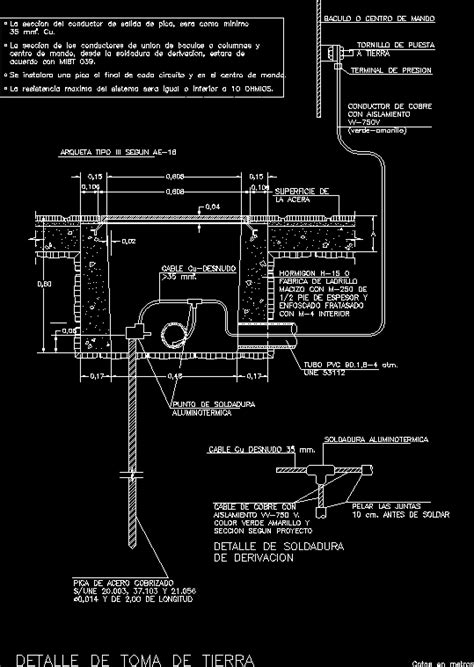Electrical grounding, earth in AutoCAD | CAD (54.04 KB