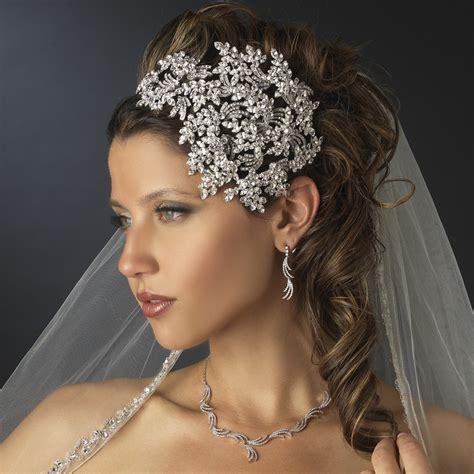 vintage side accented bridal headband