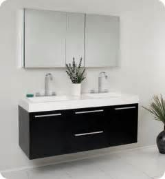 vanity medicine cabinets 54 fresca opulento fvn8013bw black modern sink