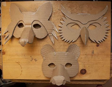 How To Make Animal Masks With Paper - 20 best ideas about owl mask on felt mask