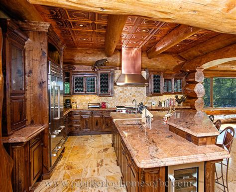 Log Home Kitchen Gallery log homes kitchen dining image gallery bc canada