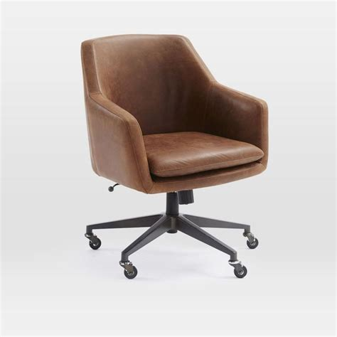 Helvetica Desk Chair Antique Bronze Leather Molasses 1000 Ideas About Leather Office Chairs On