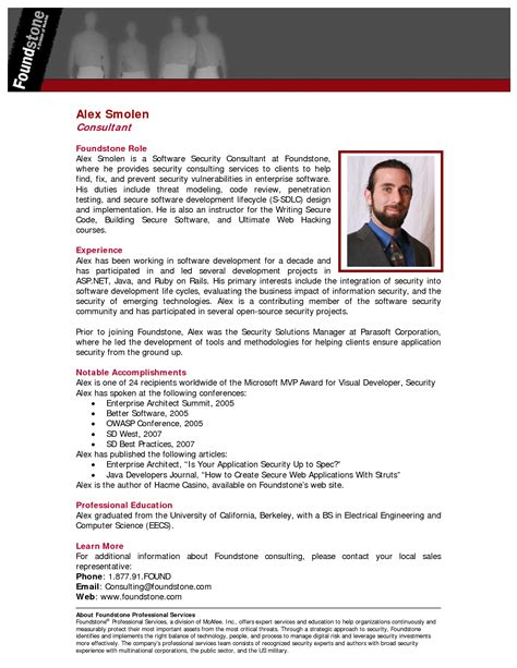 brief biography format professional bio template e commercewordpress