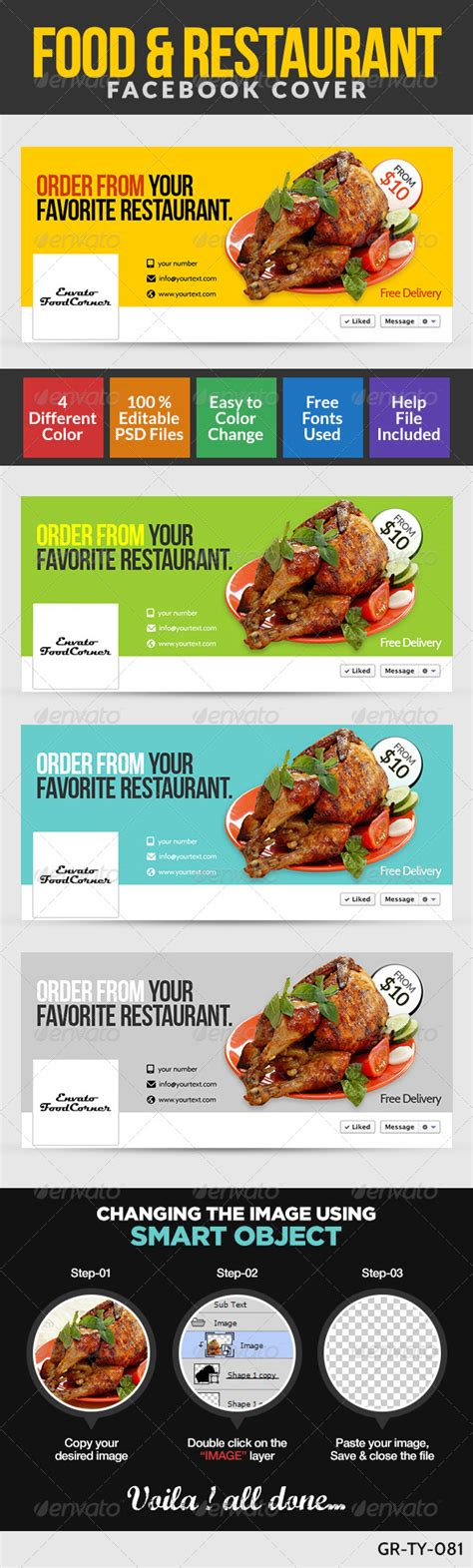 food banner template restaurant food cover page restaurant food