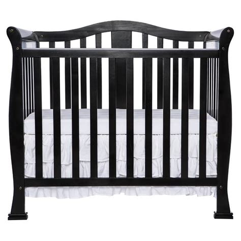 Dream On Me Naples 4 In 1 Convertible Mini Crib In Black Black 4 In 1 Convertible Crib