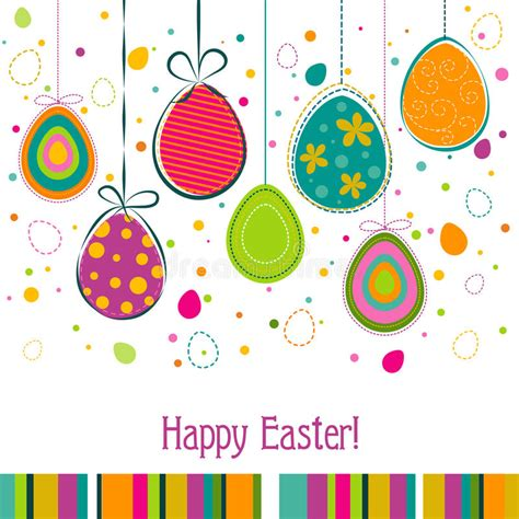easter card templates free template easter greeting card vector stock vector