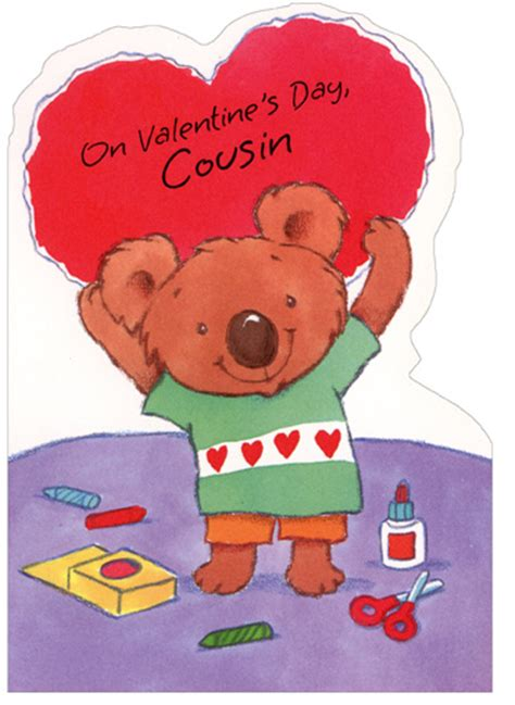 crafty koala holding cousin 1 card 1 envelope