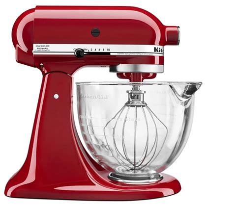 KitchenAid KSM105GBC 5 Qt. Mixer with Glass Bowl   Shop