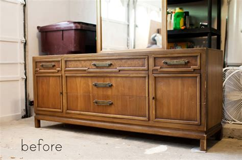 chalk paint mueble lacado before after dresser refinishing sideboard redo