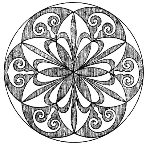 radial pattern black and white radial design clipart etc
