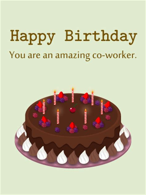 Co Worker Birthday Card Cheers Happy Birthday Card For Co Workers Birthday