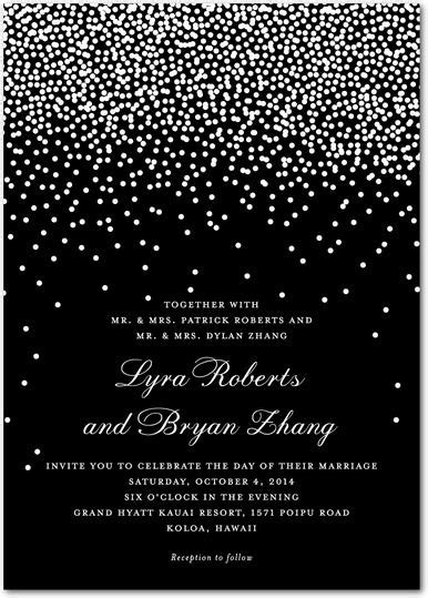 Wedding Paper Divas Bridal Shower by Sky Signature White Wedding Invitations In Black