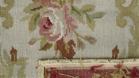 Needle Point Rug by Needlepoint Rugs Floral Aubusson Needlepoint Rug