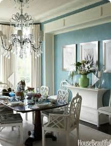 Blue And White Dining Room blue and white dining room table