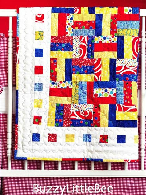 Eights Quilt Pattern by Quilt Pattern Oh Boy Baby Eights Primary Colors