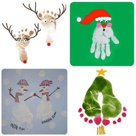 christmas handprint footprint ideas these are so cute