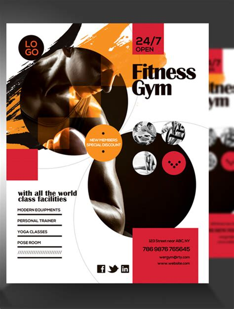 fitness flyer template 29 free psd format download
