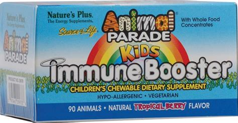Natures Plus Animal Parade Immune Booster 90s nature s plus animal parade 174 immune booster tropical berry buy for the starting this