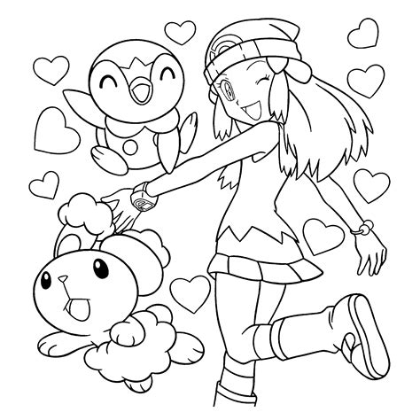 Piplup Coloring Page Az Coloring Pages Piplup Coloring Pages