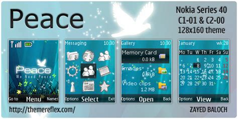 themes for nokia c1 c2 peace theme for nokia c1 01 c2 00 themereflex
