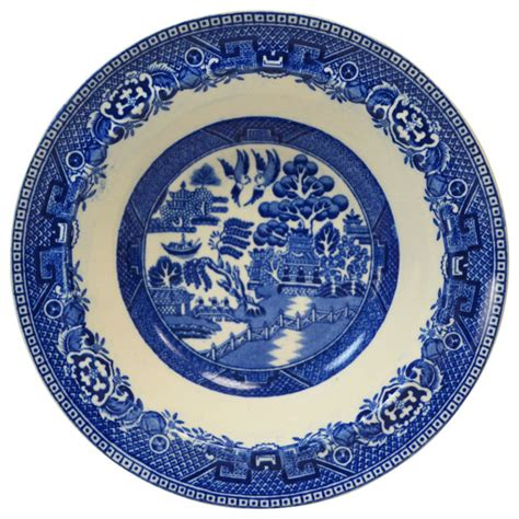 english willow pattern consigned 6 small bowls w blue white willow pattern by