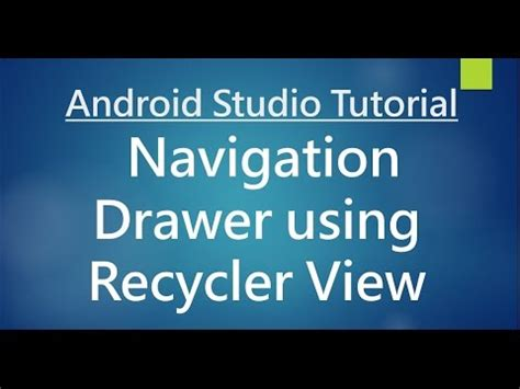 new boston android studio tutorial youtube android studio tutorial 77 navigation drawer using