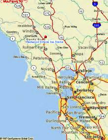 of california santa map map of santa rosa california california map