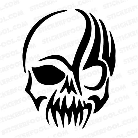Tribal Sticker Skull by Scary Tribal Skull Decal Sticker 1 Vinyl Sticker Provider