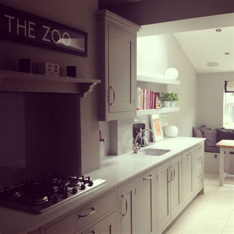 Gray Painted Kitchen Cabinets modern country style colour study farrow and ball