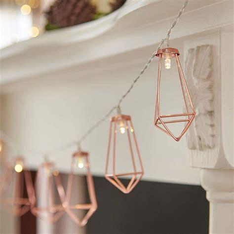 rose gold string lights indoor battery rose gold lantern string lights