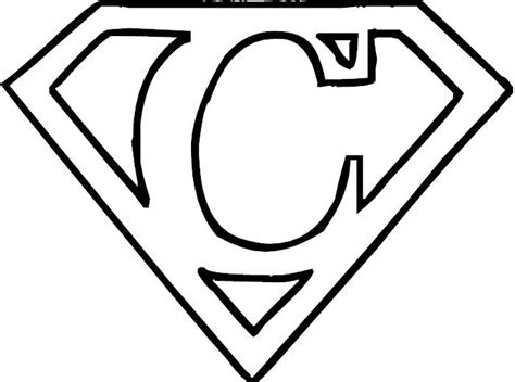 Superman Logo Coloring Home Superman Logo Coloring Pages
