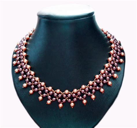 Necklace Pattern free pattern for beautiful beaded necklace elizabeth magic