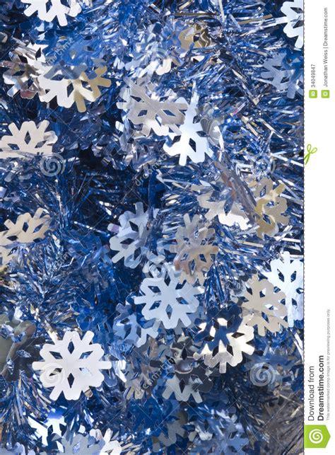 blue  silver christmas tinsel stock image image