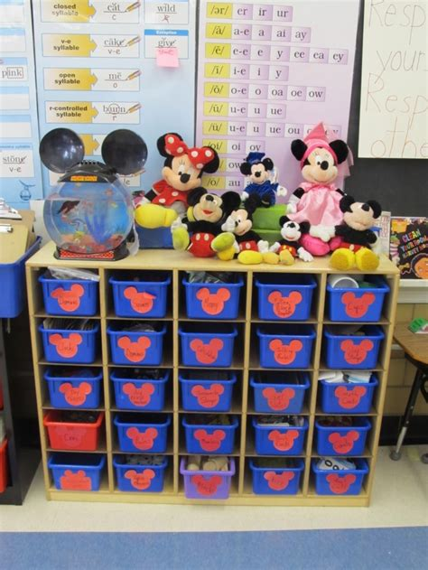 Disney Classroom Decorations by Mickey Heads As Labels Classroom