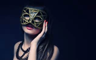 Girl woman beauty black mask wallpaper background