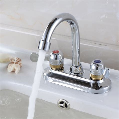 Two Faucet Sink by Simple Two Holes Two Handles Bathroom Sink Faucet