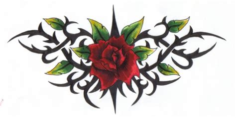 tattoo designs roses and thorns all aurra tribal tattoos designs pictures and ideas