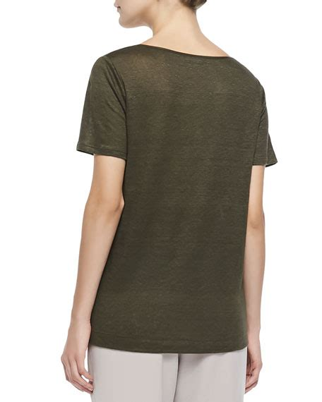 boat neck piping vince boat neck tee w piping pull on drawstring jogging