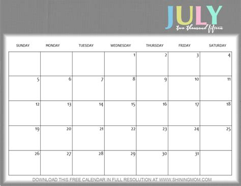 free printable monthly calendars july 2015 8 lovely july 2015 calendars