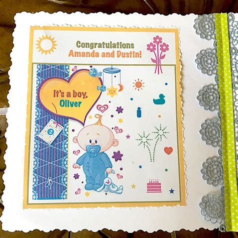 Handmade Baby Card - handmade baby shower card congratulations baby card