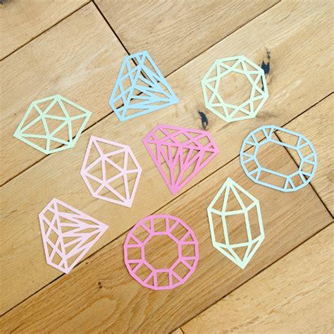 Make Cut Paper - paper cut gems minieco