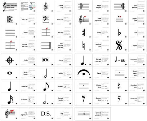 musical staff lines flash cards template printable notation flash cards